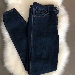 Free People 3-Button Skinny Jeans Size W25